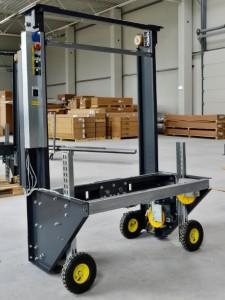 Výťahové rámy dodávame na miesto montáže na pomocných kolieskach kvôli ľahšej manipulácii